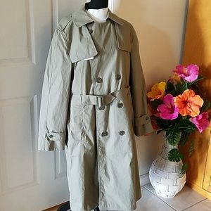 Men's double breasted trench coat size 40 Reg